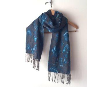 Soft floral scarf